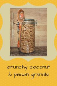 crunchy coconut and; pecan granola (1)