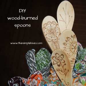 DIYwood-burned spoons