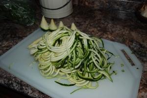 """zucchini """"noodles"""""""