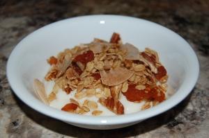 gluten-free granola with homemade yogurt