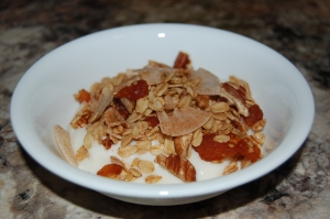 gluten-free granola with homemade yogurt