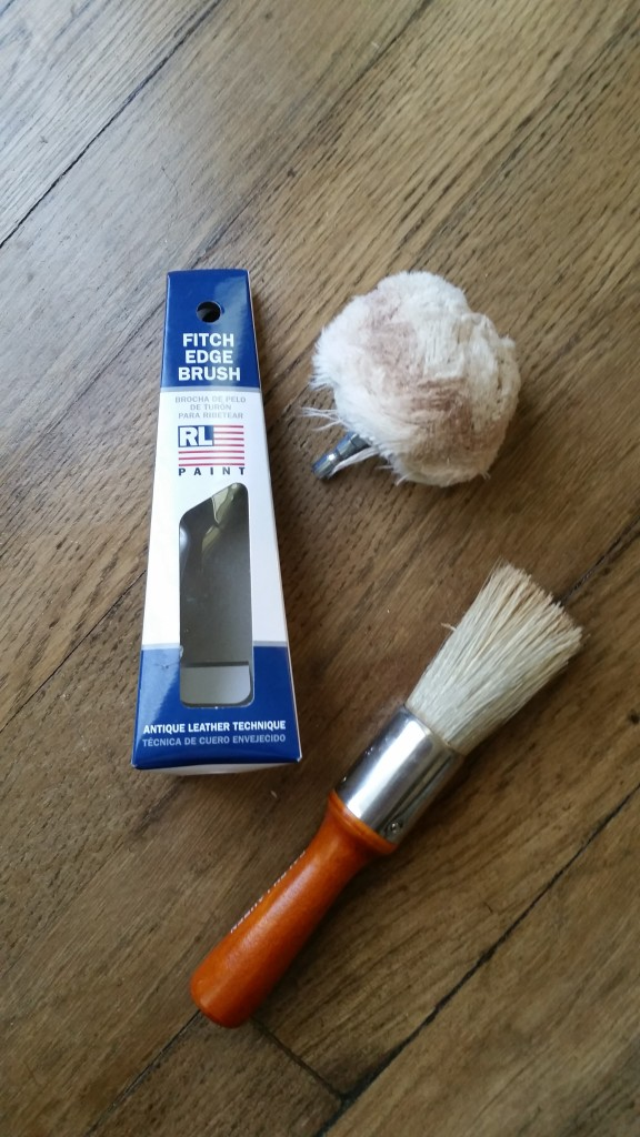 wax brush and buffer