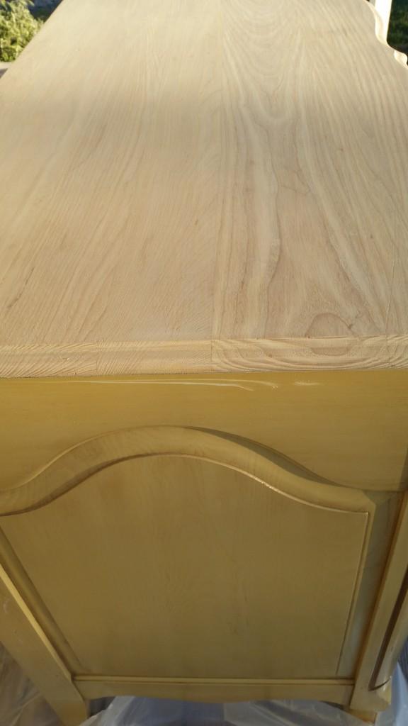 sanded dresser top