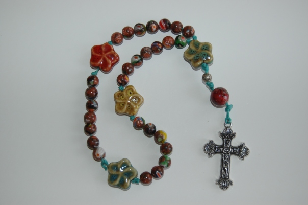 Floral Christian Prayer Beads - the simple hive