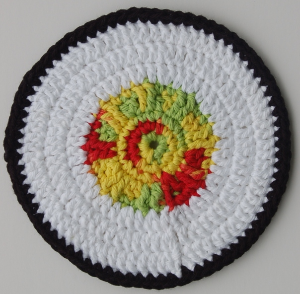 sushi dishcloth crochet pattern - the simple hive