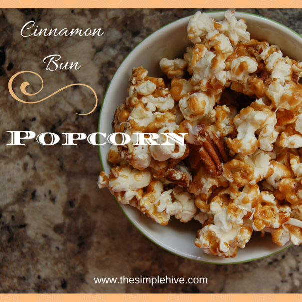 Cinnamon Bun Popcorn #glutenfree - The Simple Hive