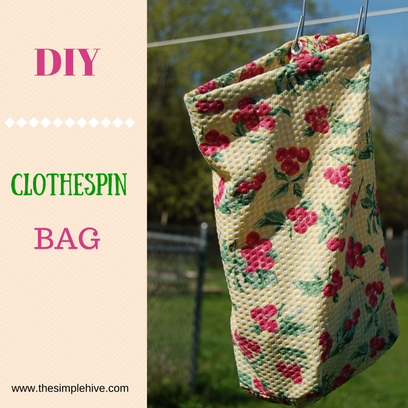 DIY Clothespin Bag The Simple Hive Simple Clothespin Bag Pattern