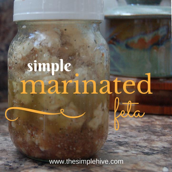 Simple marinated feta - the simple hive