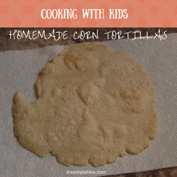 Gluten-free and vegan corn tortillas.  An easy recipe to make with kids. - thesimplehive.com