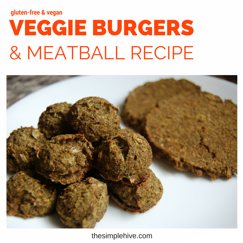 Versatile recipe for #glutenfree and #vegan veggie burgers and meatballs. - thesimplehive.com