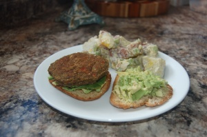 Gluten-free and vegan veggie burger