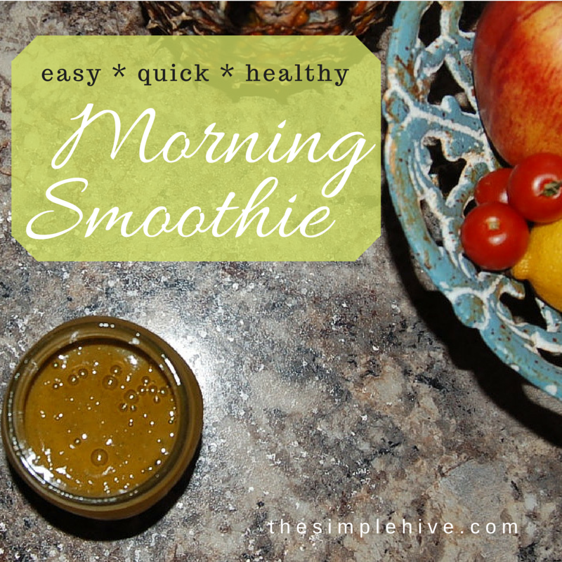 Supercharge your mornings with this easy and quick energy smoothie.  - thesimplehive.com